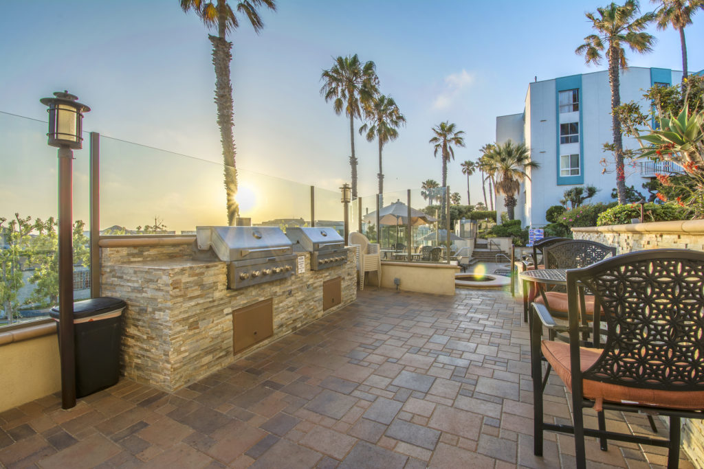 Relax at the owners bbq and pool area in the village redondo beach
