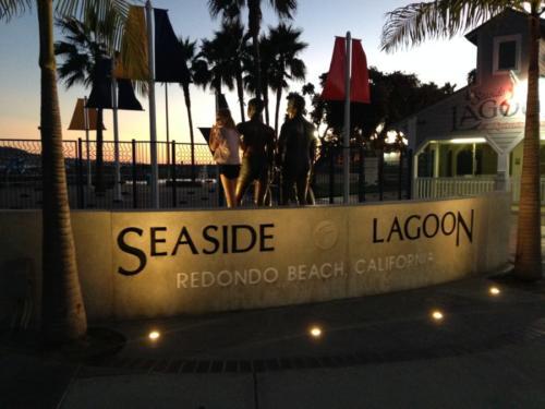 Seaside Lagoon Sunset